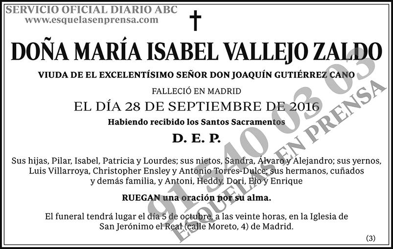 María Isabel Vallejo Zaldo